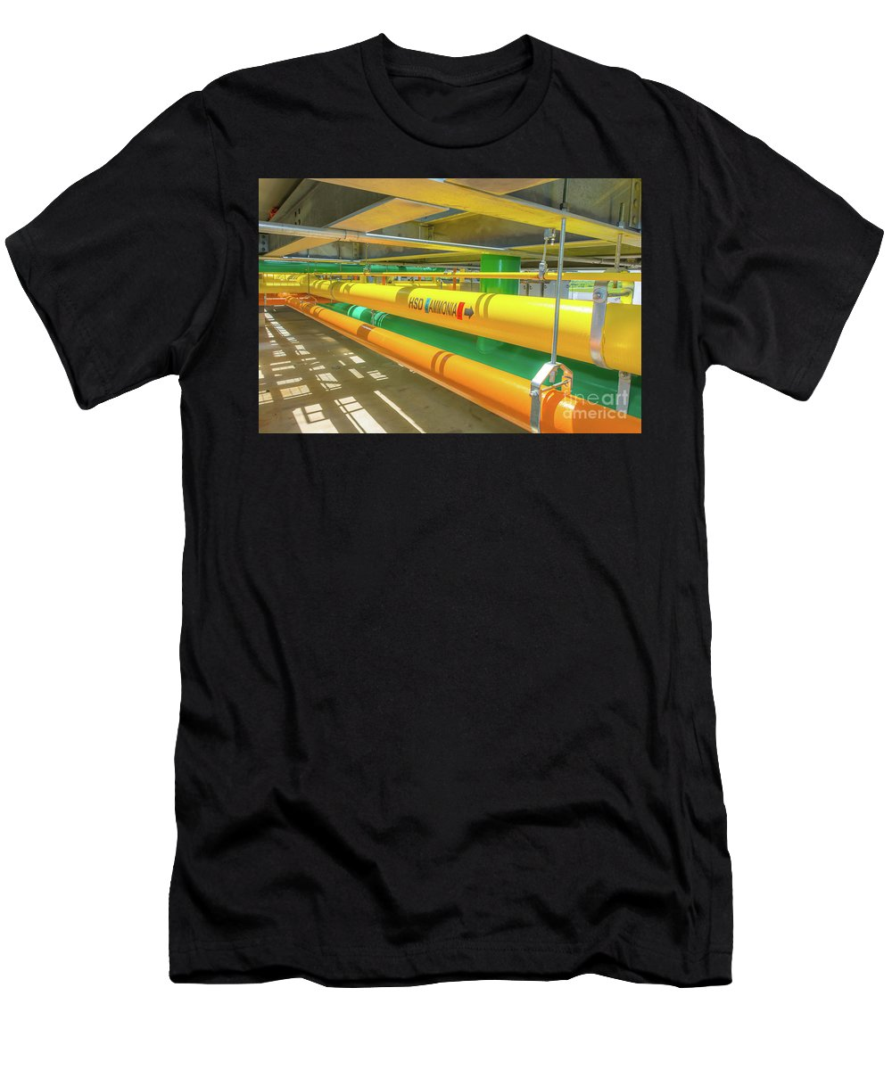 Plant Men's T-Shirt (Athletic Fit) featuring the photograph Up On The Rooftop by Pamela Williams