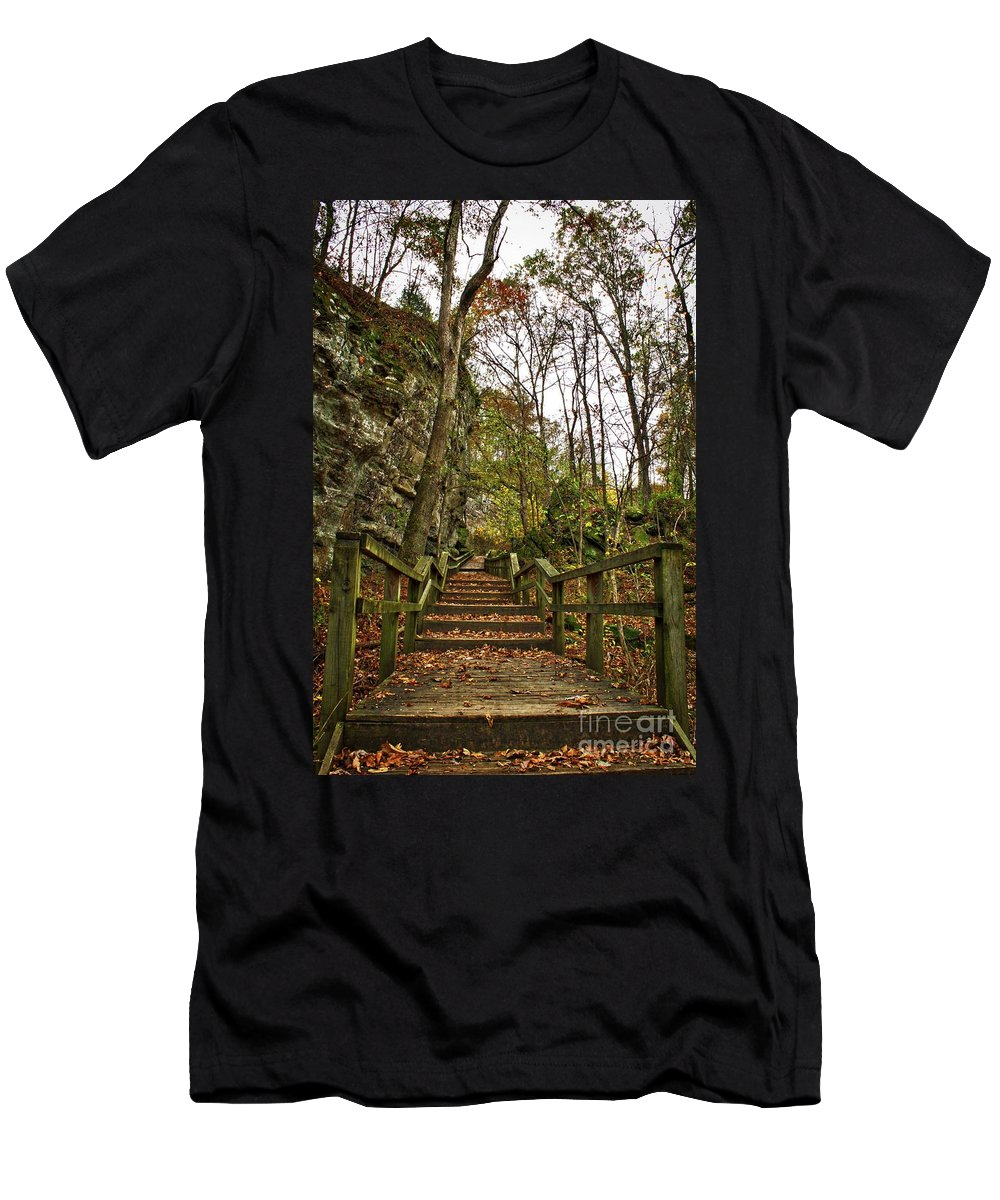 Bluff Men's T-Shirt (Athletic Fit) featuring the photograph Up The Bluff by Ty Shults