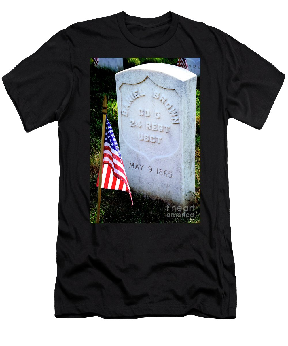 Colored Troops Men's T-Shirt (Athletic Fit) featuring the photograph Us Colored Troops by Paul W Faust - Impressions of Light