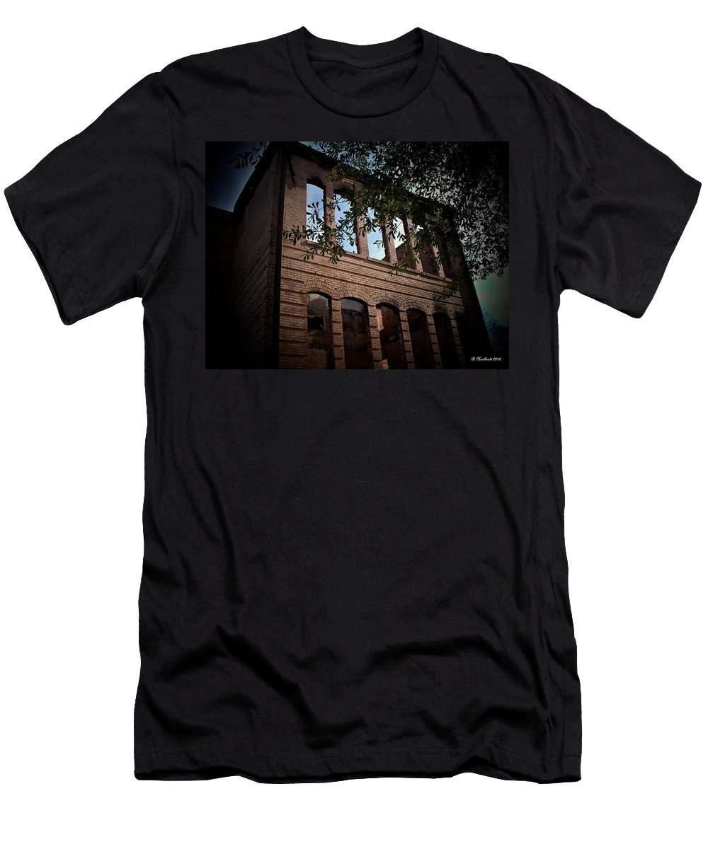 School Men's T-Shirt (Athletic Fit) featuring the photograph Vacancy by Betty Northcutt
