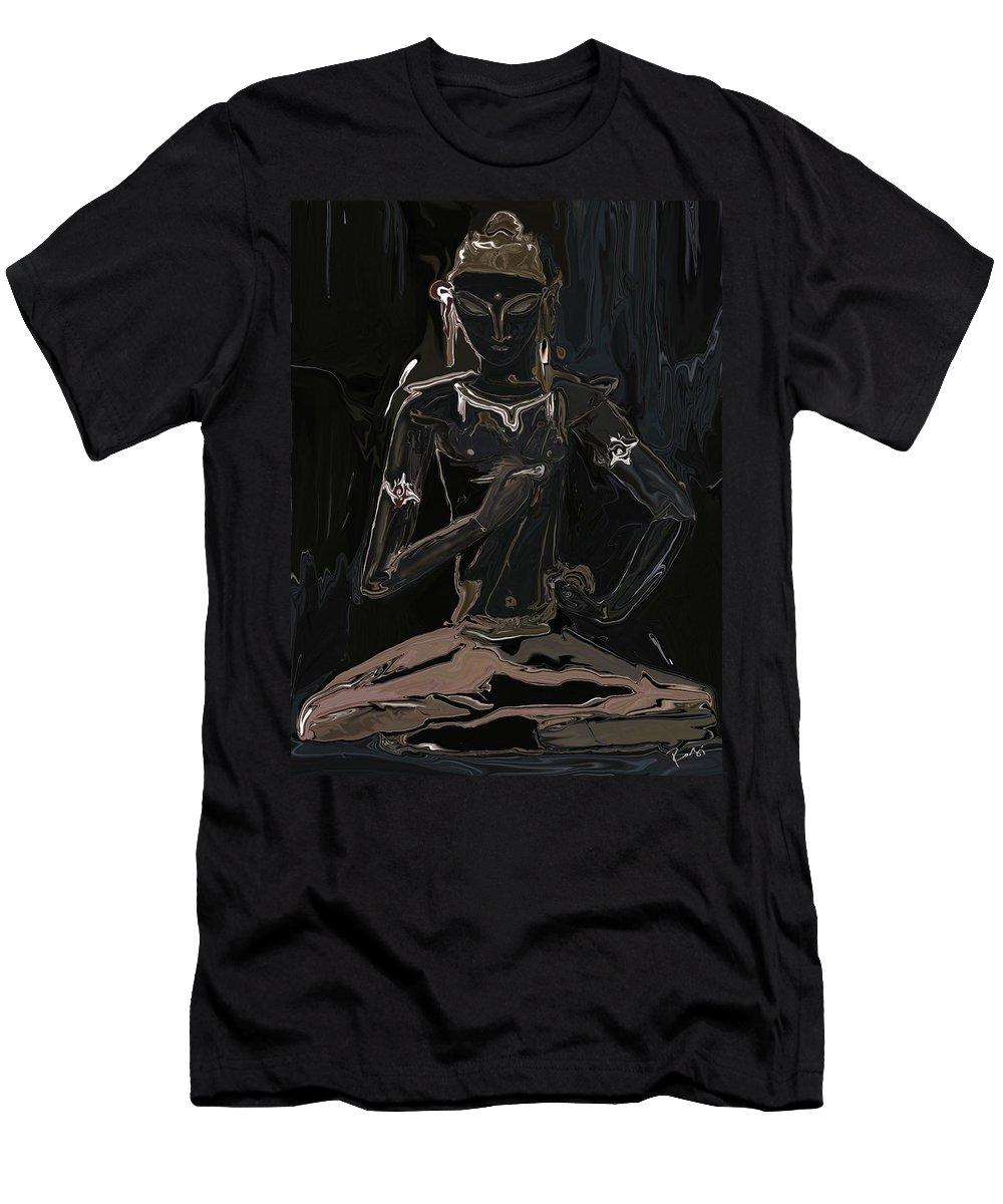 Vajrasattva Men's T-Shirt (Athletic Fit) featuring the digital art Vajrasattva by Rabi Khan