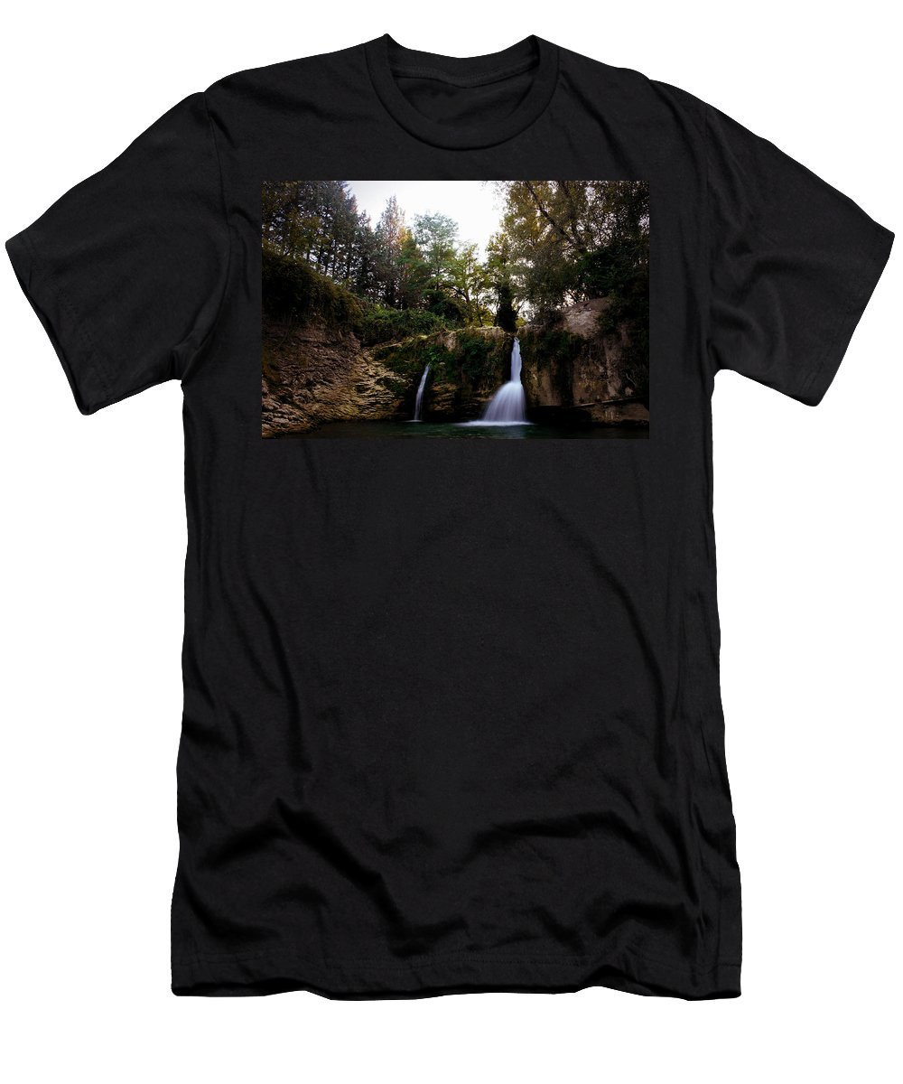 Sky Men's T-Shirt (Athletic Fit) featuring the photograph Val Rea Waterfalls by Diego D'Ambrosio
