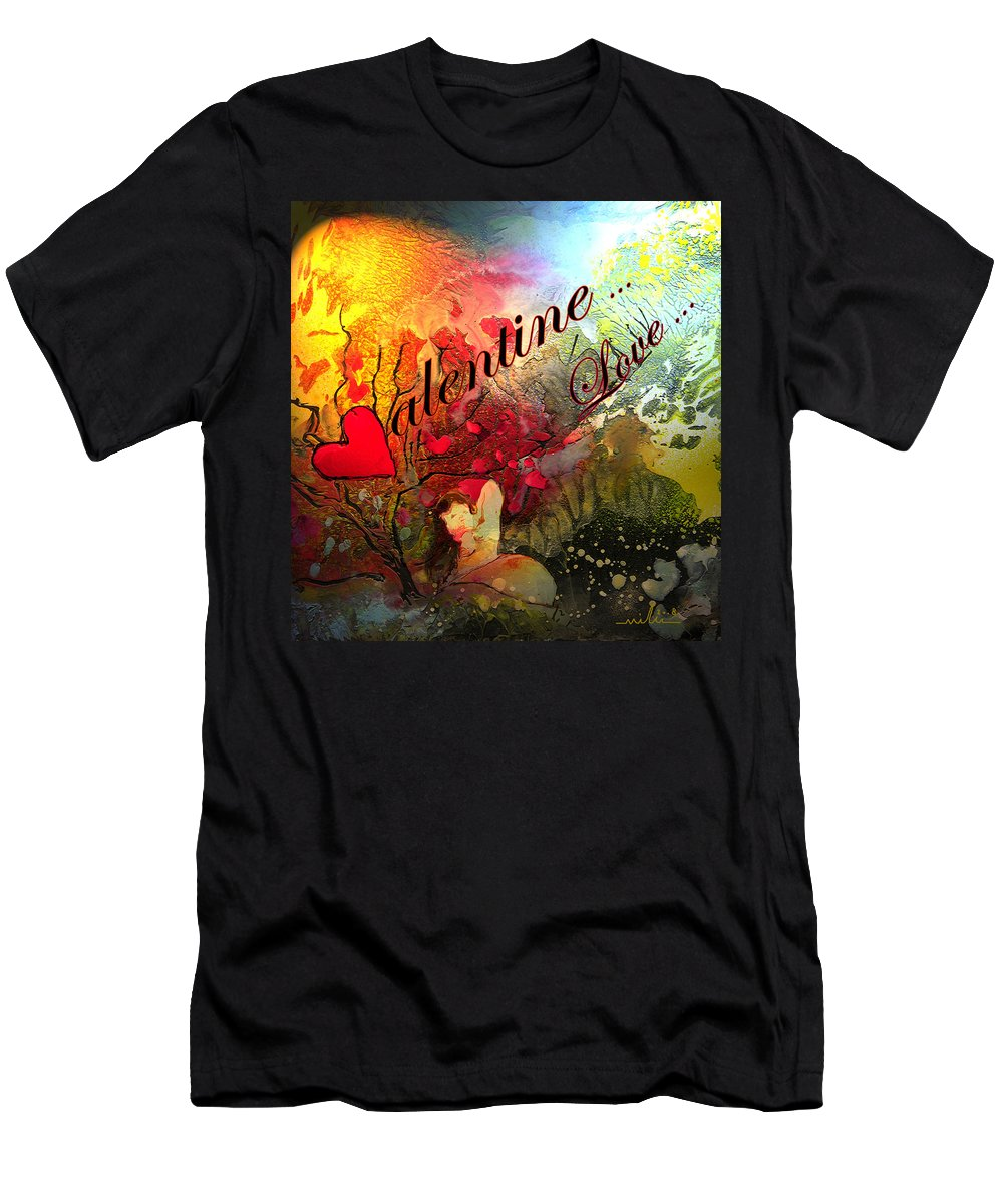 Valentine Men's T-Shirt (Athletic Fit) featuring the painting Valentine by Miki De Goodaboom