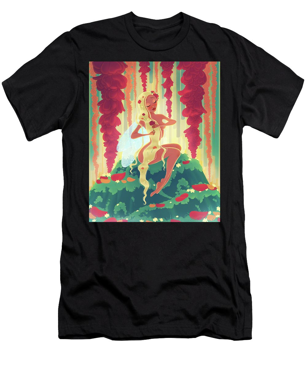 Valentine's Day Men's T-Shirt (Athletic Fit) featuring the digital art Valentine's Day Fairy by Kelsey Hoefling