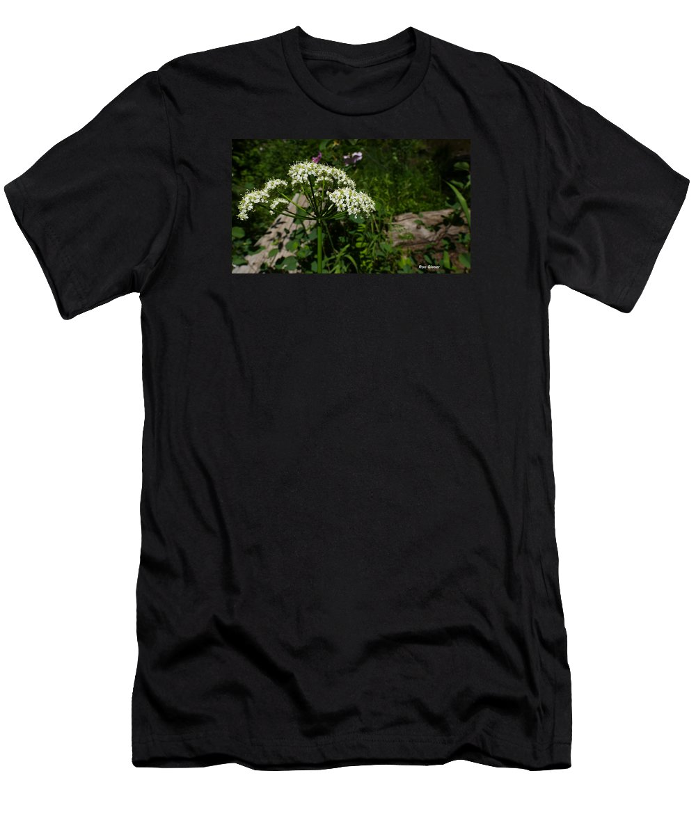 Ron Glaser Men's T-Shirt (Athletic Fit) featuring the photograph Valerian Flowers by Ron Glaser