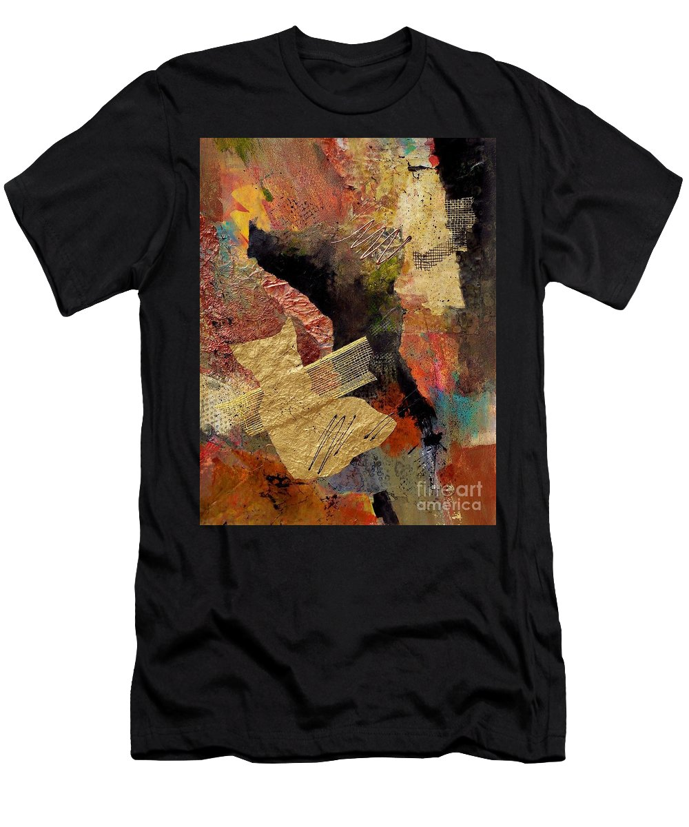 Abstract Art Men's T-Shirt (Athletic Fit) featuring the painting Valley Whispers by Donna Frost