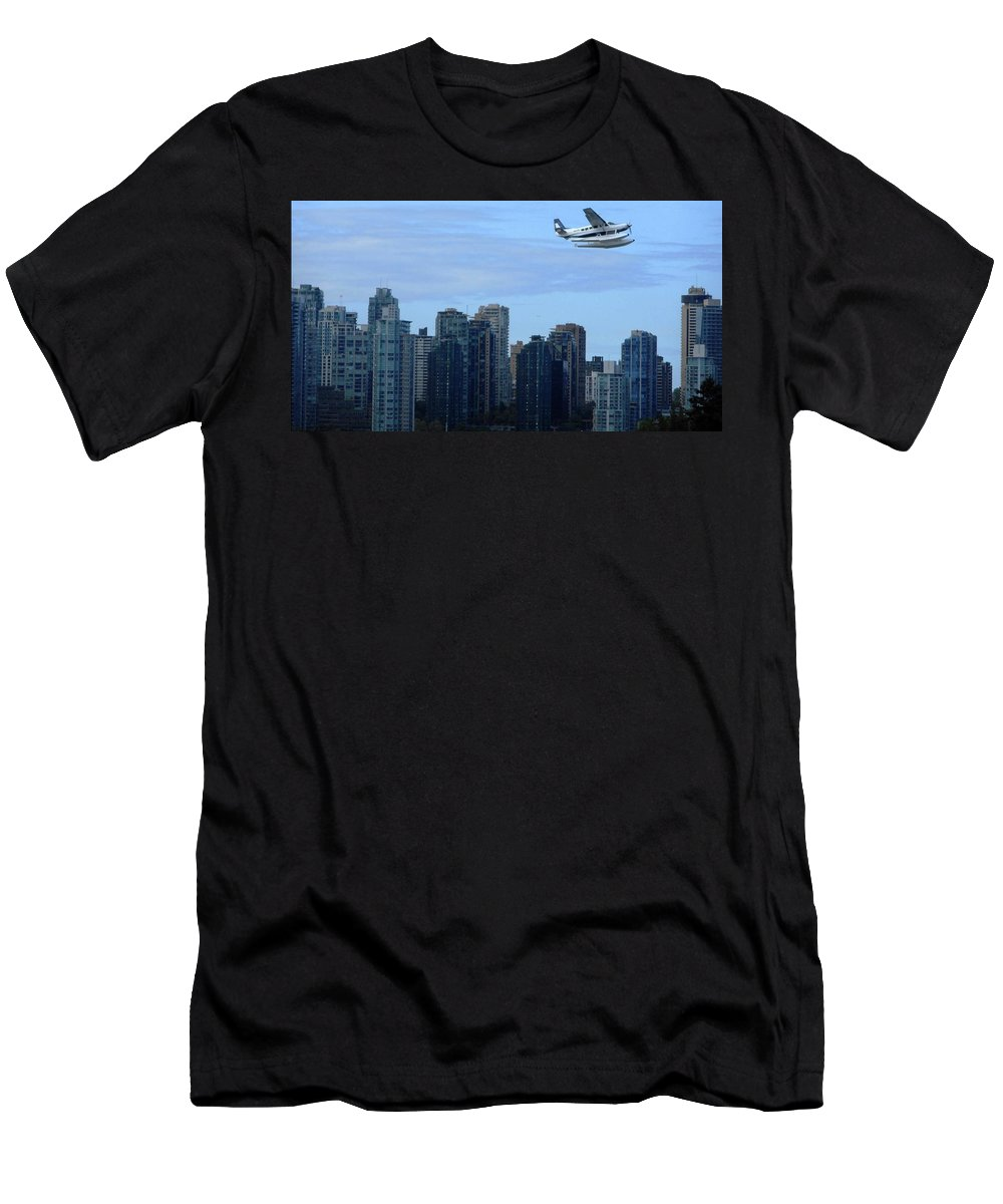 Vancouver British Columbia Canada Men's T-Shirt (Athletic Fit) featuring the photograph Vancouver 3 by Ron Kandt