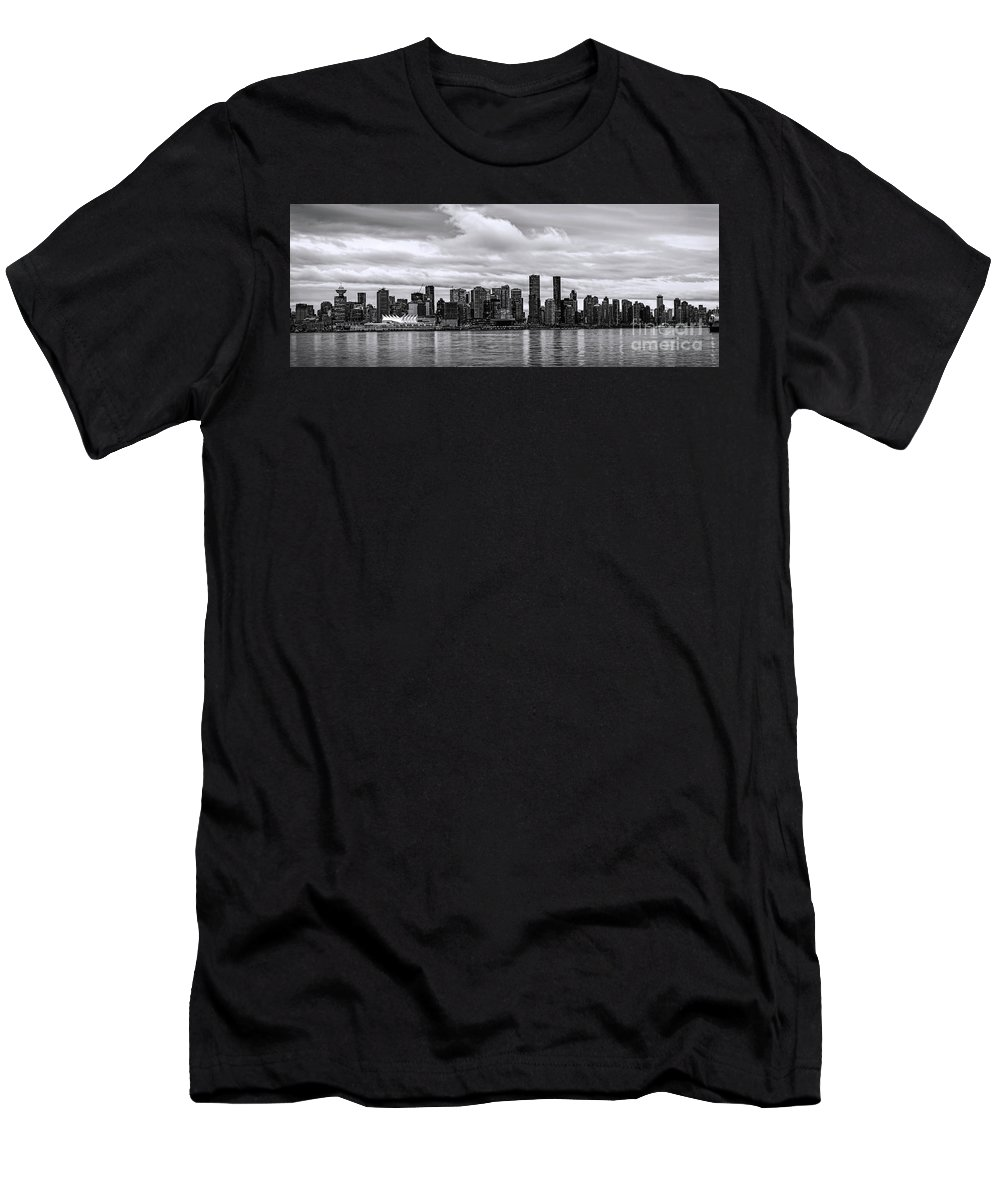 Vancouver Men's T-Shirt (Athletic Fit) featuring the photograph Vancouver In Black And White. by Viktor Birkus