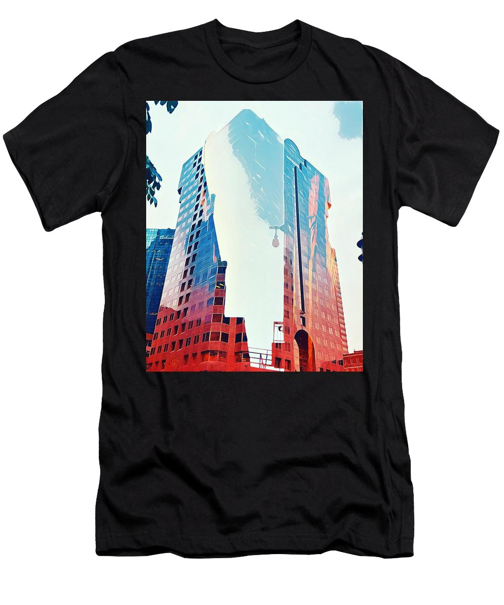 Montreal Men's T-Shirt (Athletic Fit) featuring the digital art Vanishing Act by Aiden Nettavong