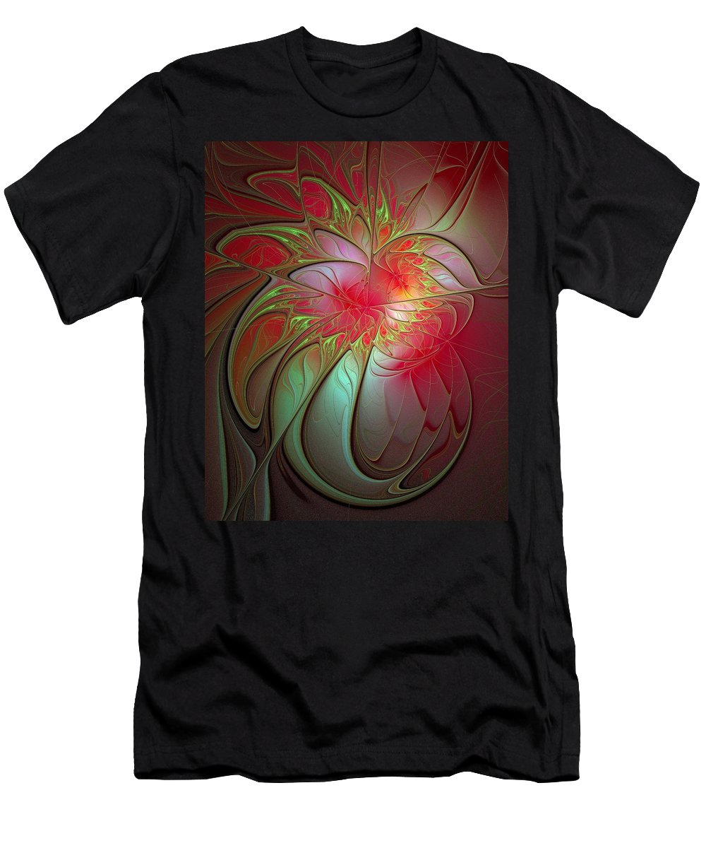 Digital Art Men's T-Shirt (Athletic Fit) featuring the digital art Vase Of Flowers by Amanda Moore