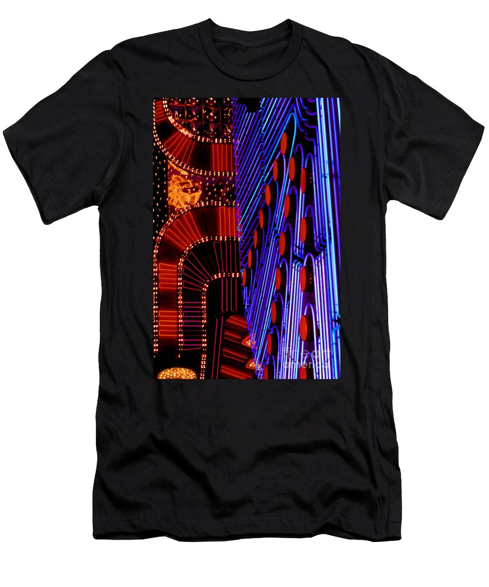 Neon Light Men's T-Shirt (Athletic Fit) featuring the photograph Vegas Lights by Paul W Faust - Impressions of Light