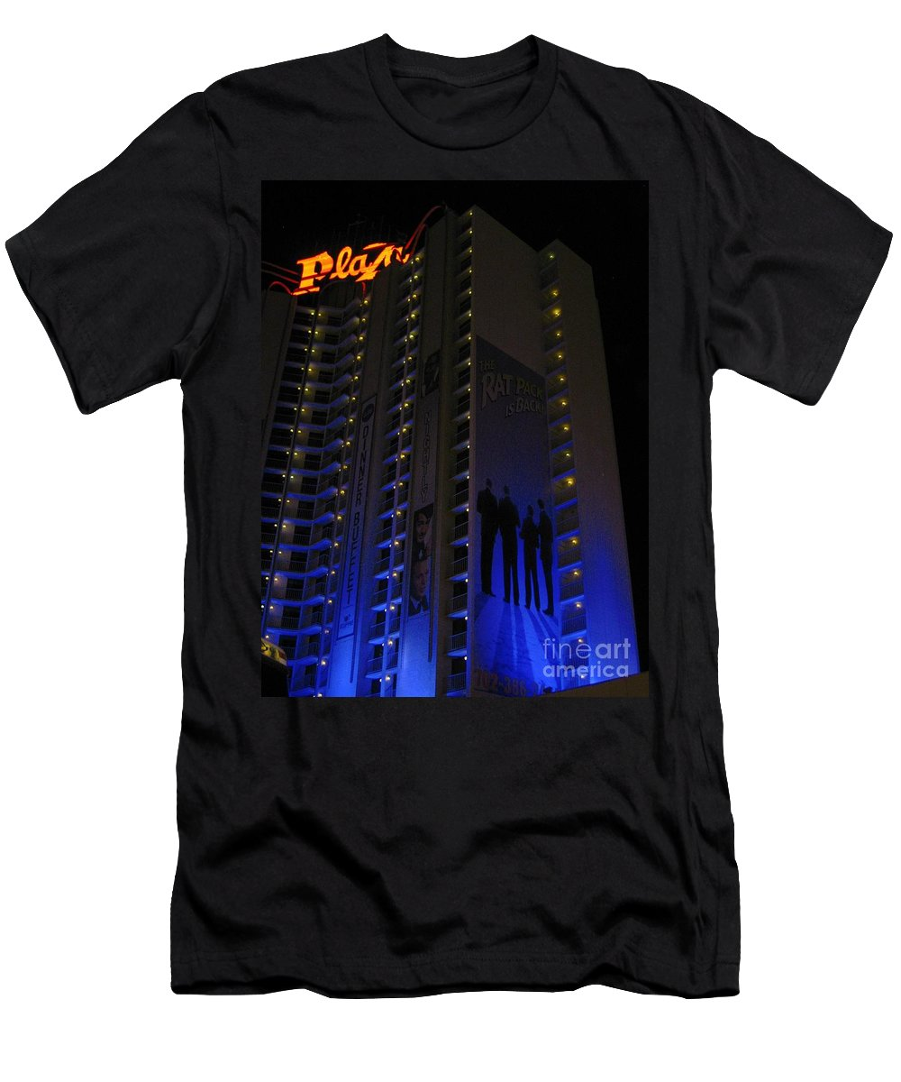 Vegas Plaza Men's T-Shirt (Athletic Fit) featuring the photograph Vegas Plaza by John Malone