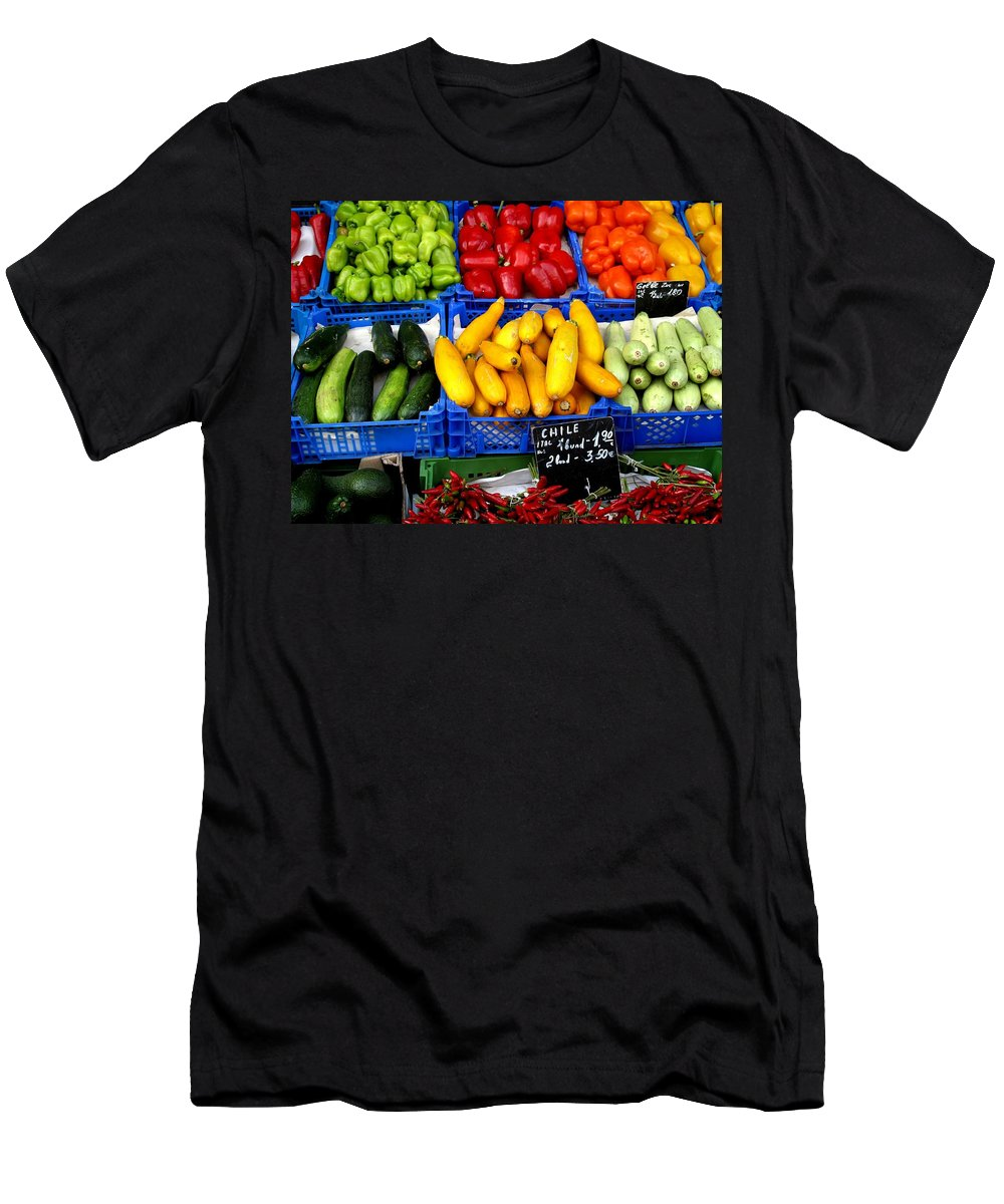 Vegetables Men's T-Shirt (Athletic Fit) featuring the photograph Vegetables by Ian MacDonald