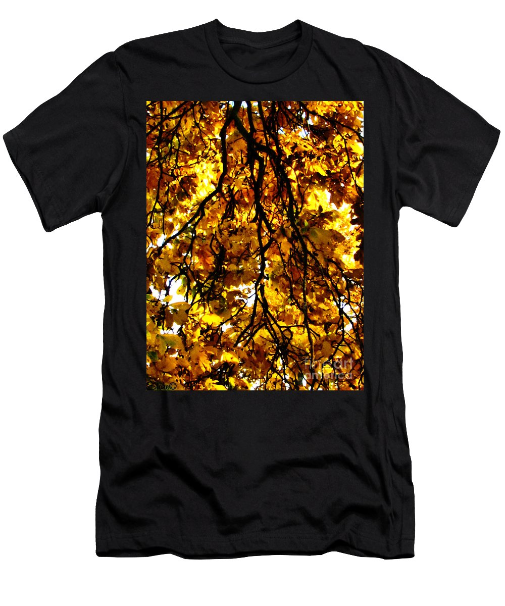 Sun Men's T-Shirt (Athletic Fit) featuring the photograph Veins Of Life by September Stone