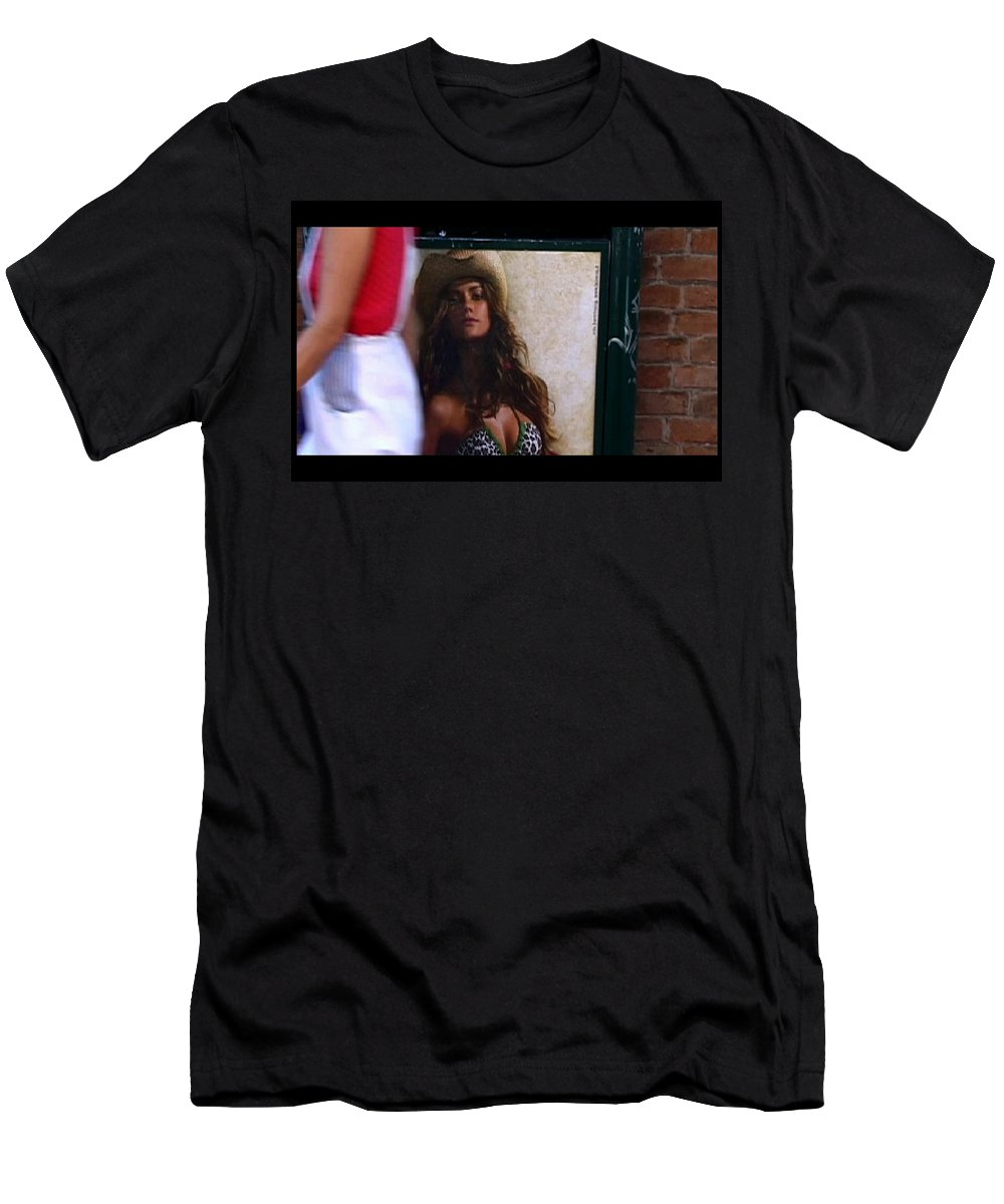 Venice Men's T-Shirt (Athletic Fit) featuring the photograph Venice Cowgirl by Charles Stuart