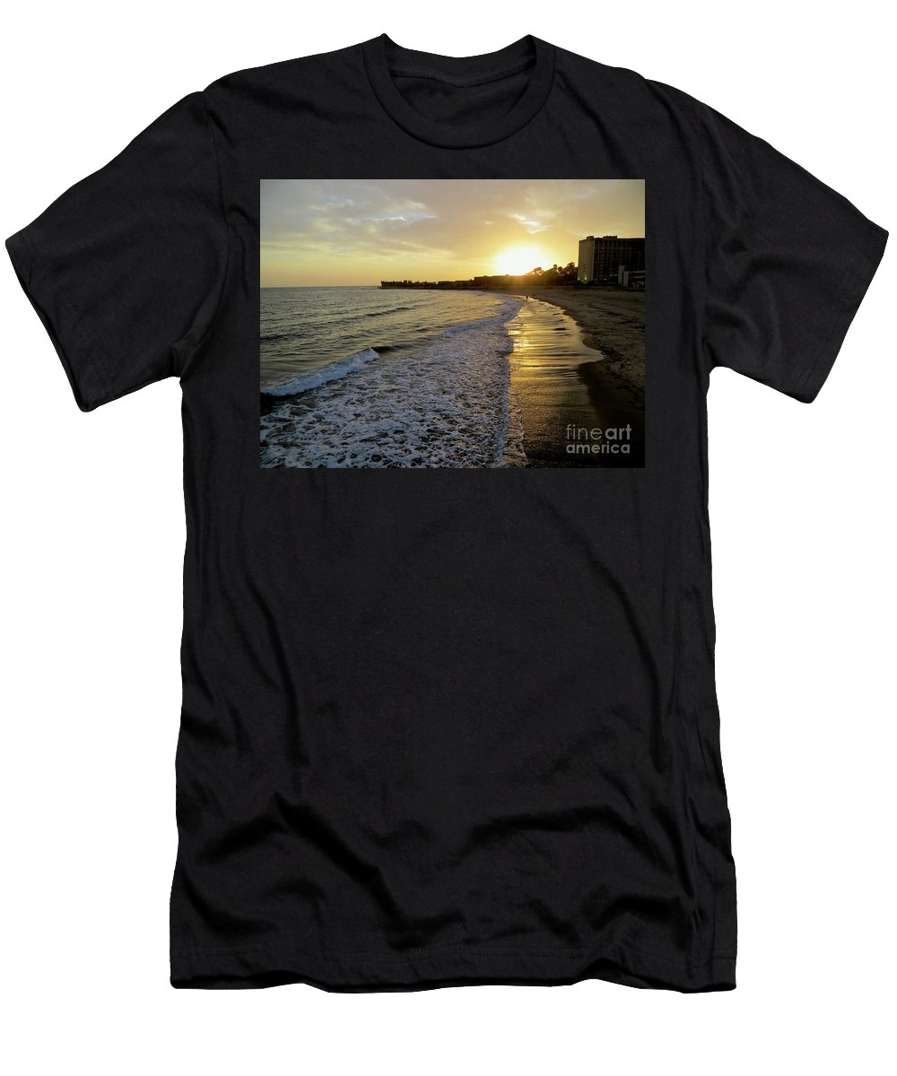 Ventura Men's T-Shirt (Athletic Fit) featuring the photograph Ventura Gold by Rachel Morrison