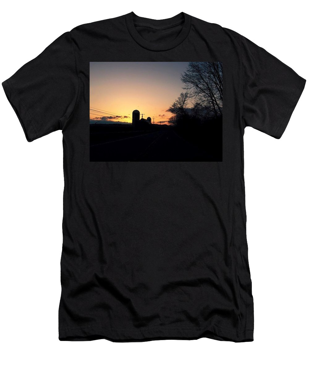 Sunset Men's T-Shirt (Athletic Fit) featuring the pyrography Vermont Sunset by Shelby Berry