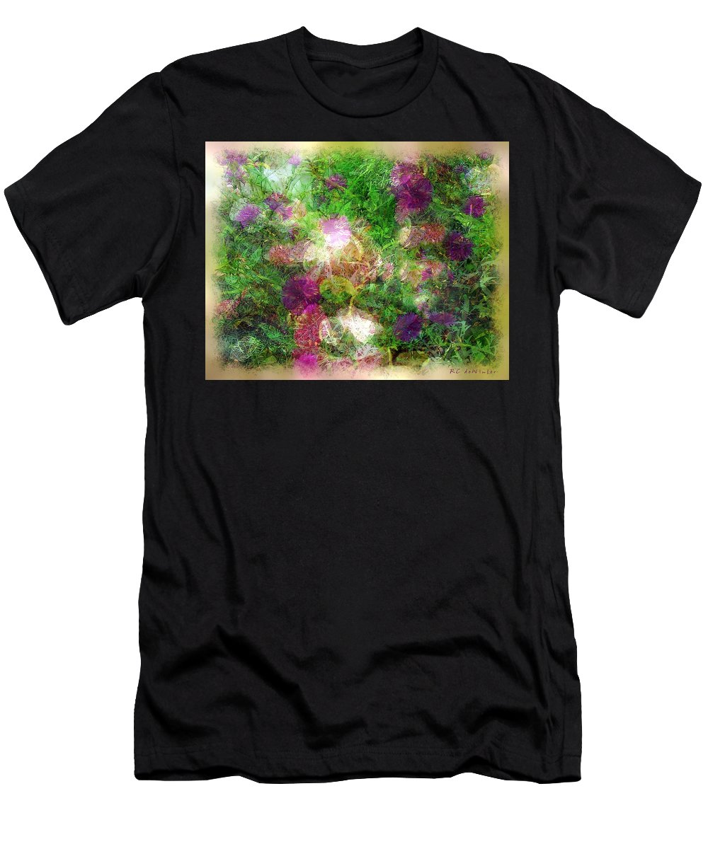 Semi-abstract Men's T-Shirt (Athletic Fit) featuring the painting Vernal Equinox by RC DeWinter