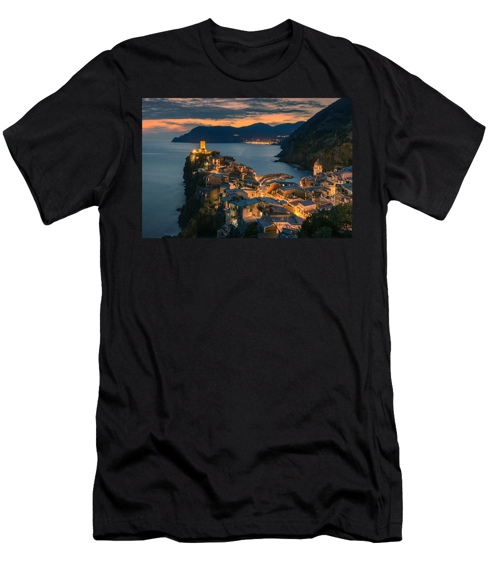 Vernazza Men's T-Shirt (Athletic Fit) featuring the photograph Vernazza by Nedjat Nuhi
