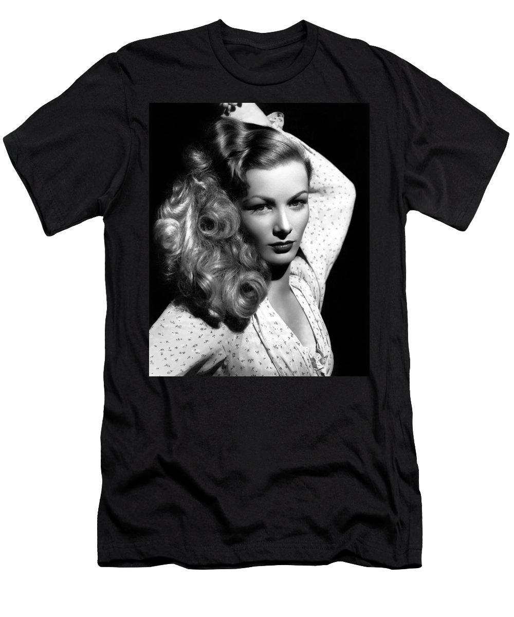 Publicity Photo Men's T-Shirt (Athletic Fit) featuring the photograph Veronica Lake 1952 by Mountain Dreams