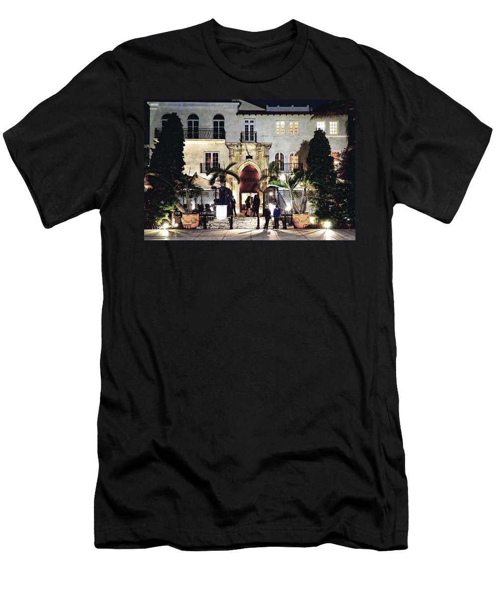 Versace Men's T-Shirt (Athletic Fit) featuring the photograph Versace Mansion South Beach by Gary Dean Mercer Clark