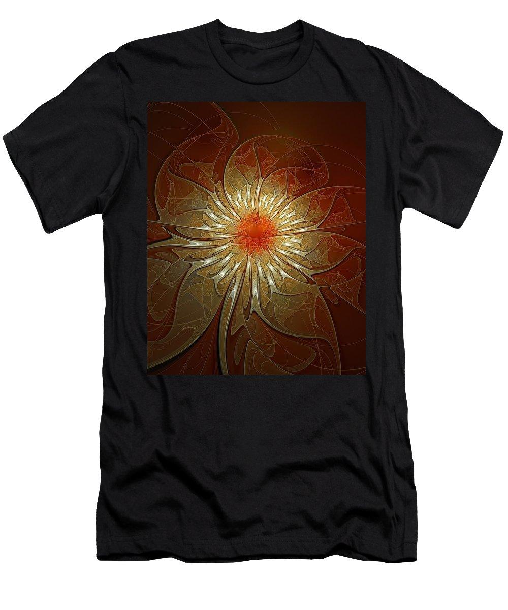 Digital Art Men's T-Shirt (Athletic Fit) featuring the digital art Vibrance by Amanda Moore