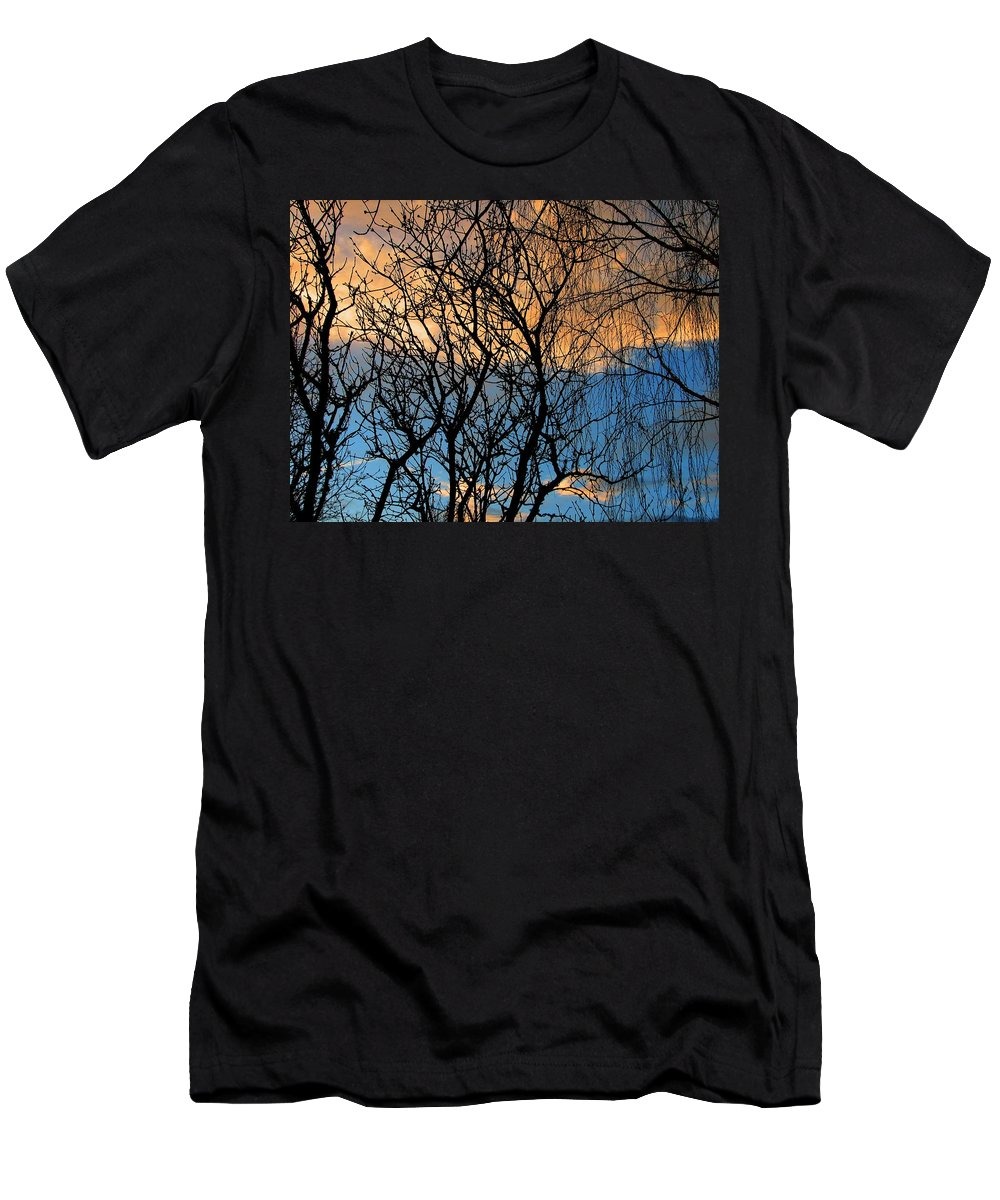 Sunset Men's T-Shirt (Athletic Fit) featuring the photograph Vibrant by Chris Dunn