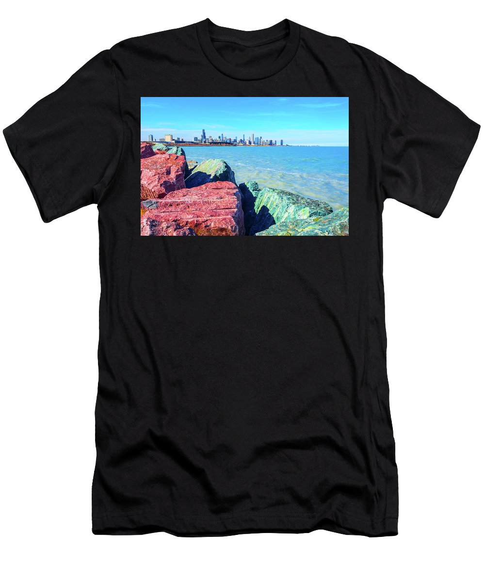 Summer Men's T-Shirt (Athletic Fit) featuring the photograph Vibrant Summer Vibes by Eric Formato