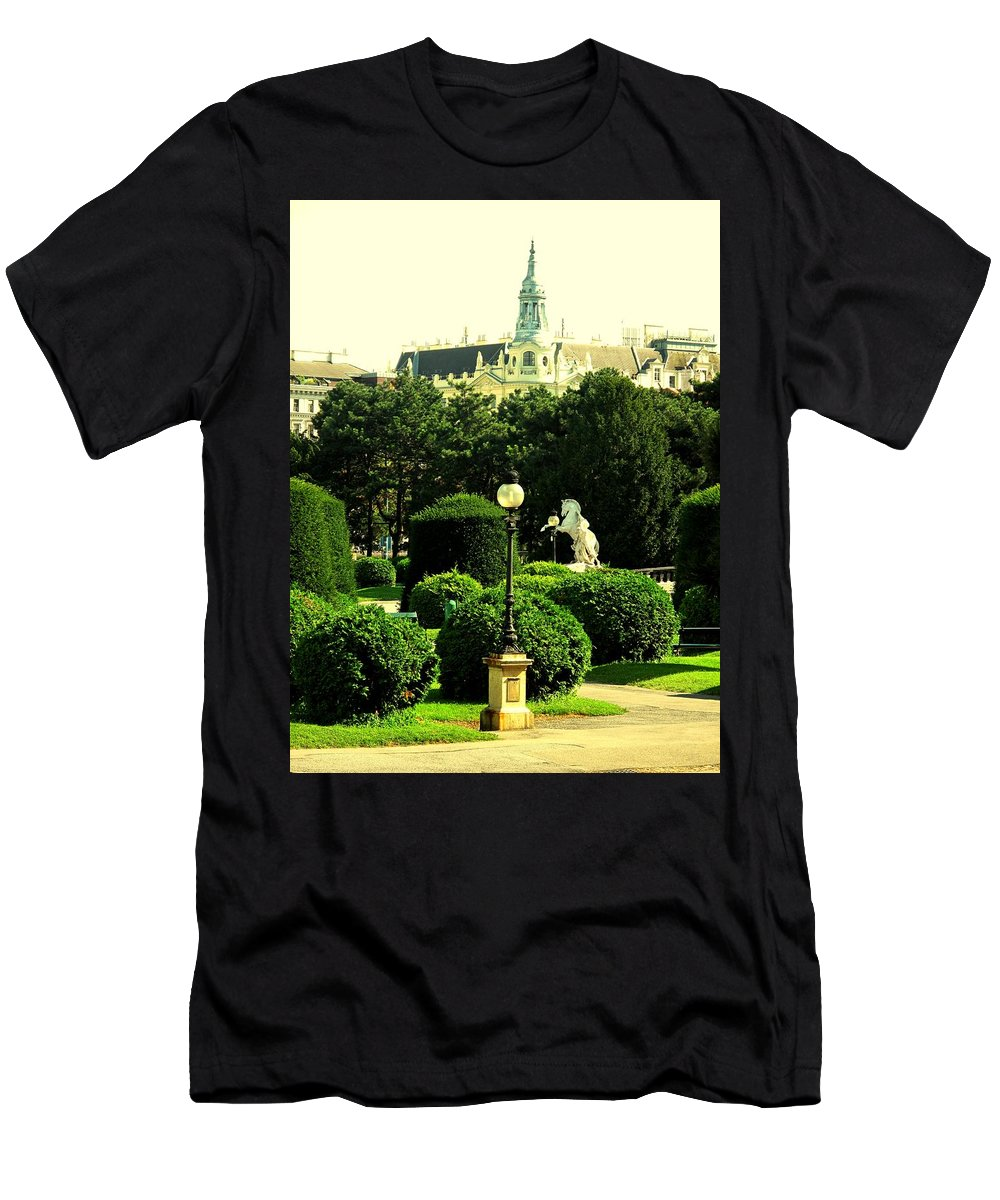 Vienna Men's T-Shirt (Athletic Fit) featuring the photograph Vienna Park by Ian MacDonald