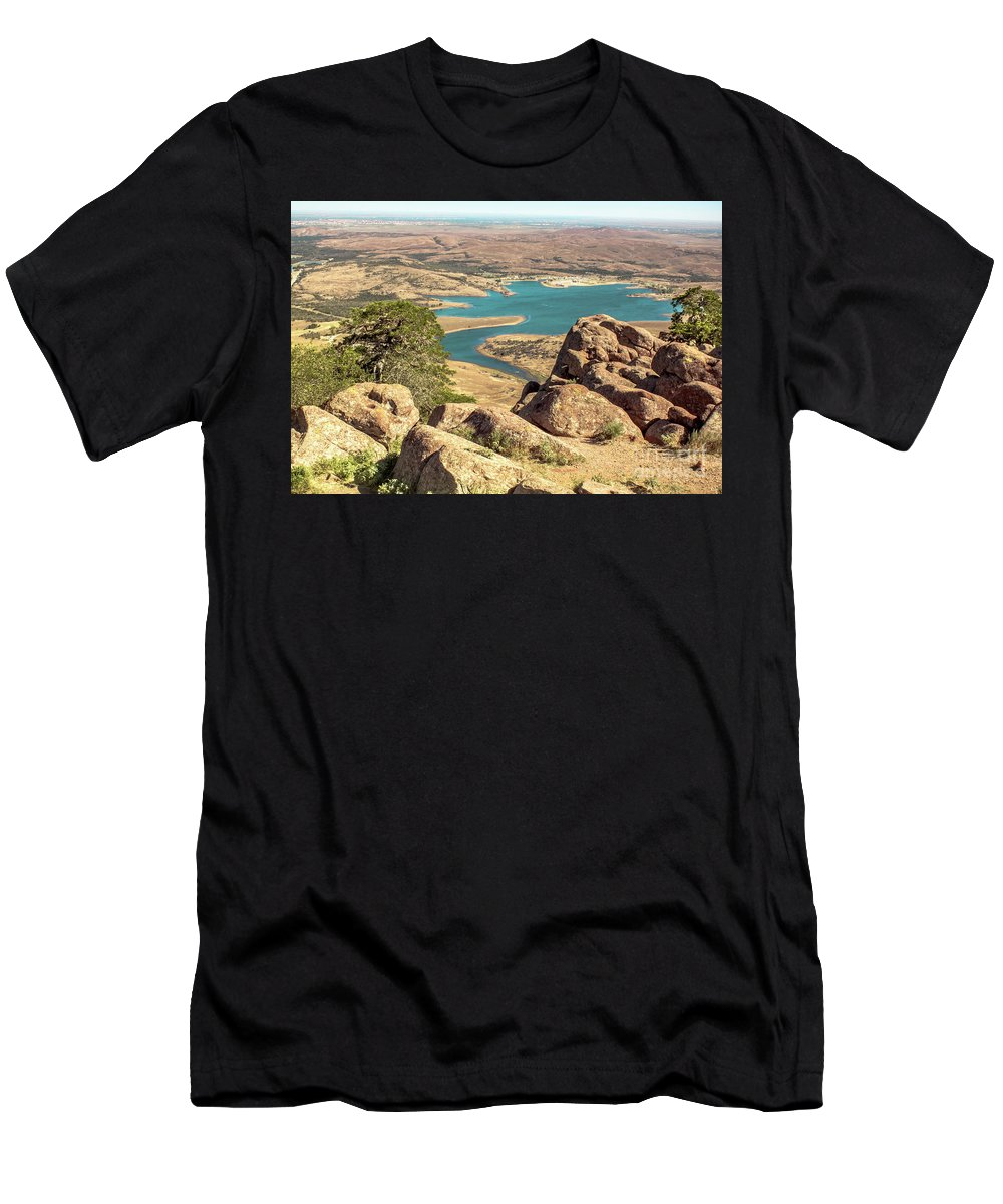 Landscape Men's T-Shirt (Athletic Fit) featuring the photograph View From Mt Scott by Robert Frederick