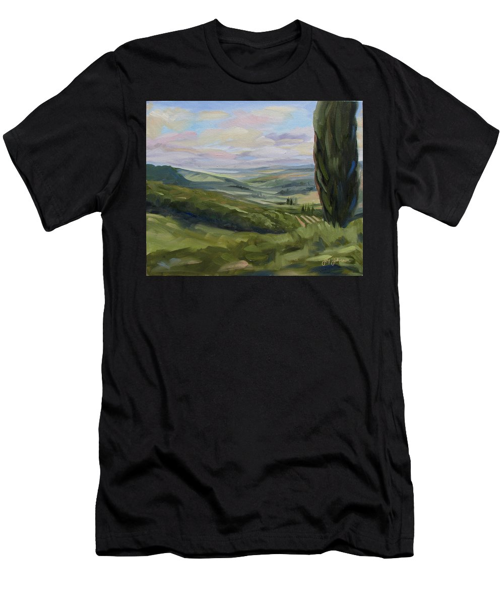 Landscape T-Shirt featuring the painting View from Sienna by Jay Johnson