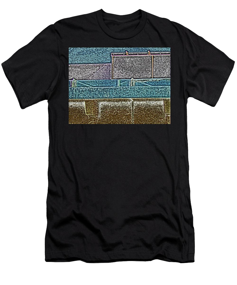 Abstract Men's T-Shirt (Athletic Fit) featuring the digital art View From The Bank 3 by Lenore Senior