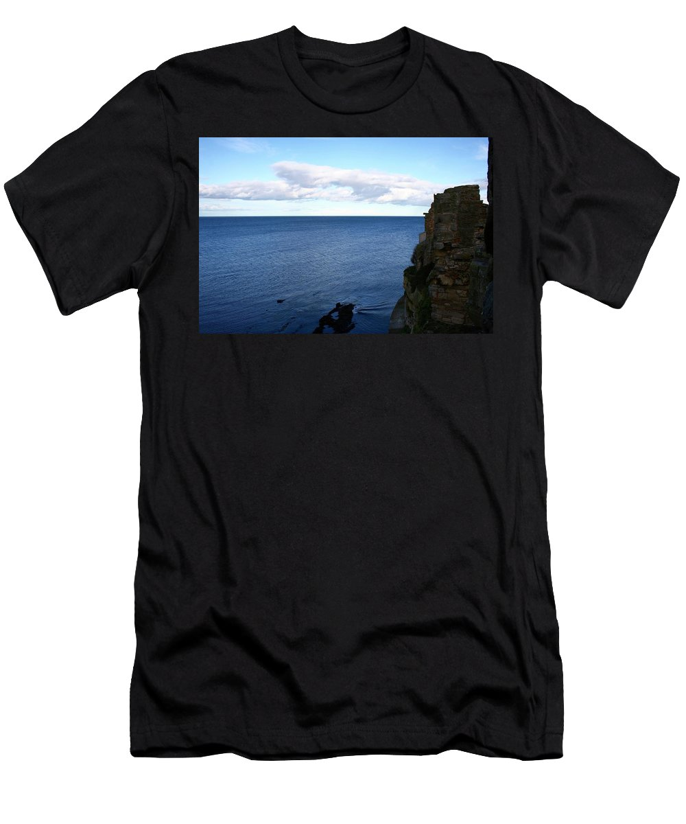 Sea Men's T-Shirt (Athletic Fit) featuring the photograph View From The Castle by Hannah Goddard-Stuart