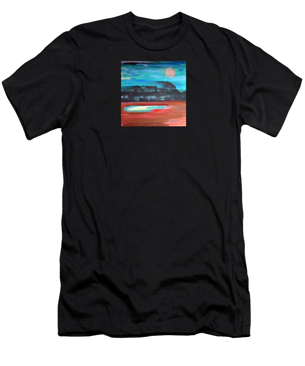 Abstract Impressionism T-Shirt featuring the painting Riding The Night Train by J R Seymour