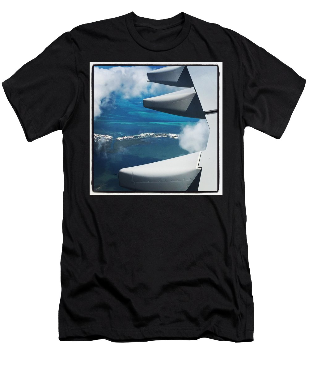 Airplane Photographs Men's T-Shirt (Athletic Fit) featuring the photograph View From The Sky by Christina McNee-Geiger