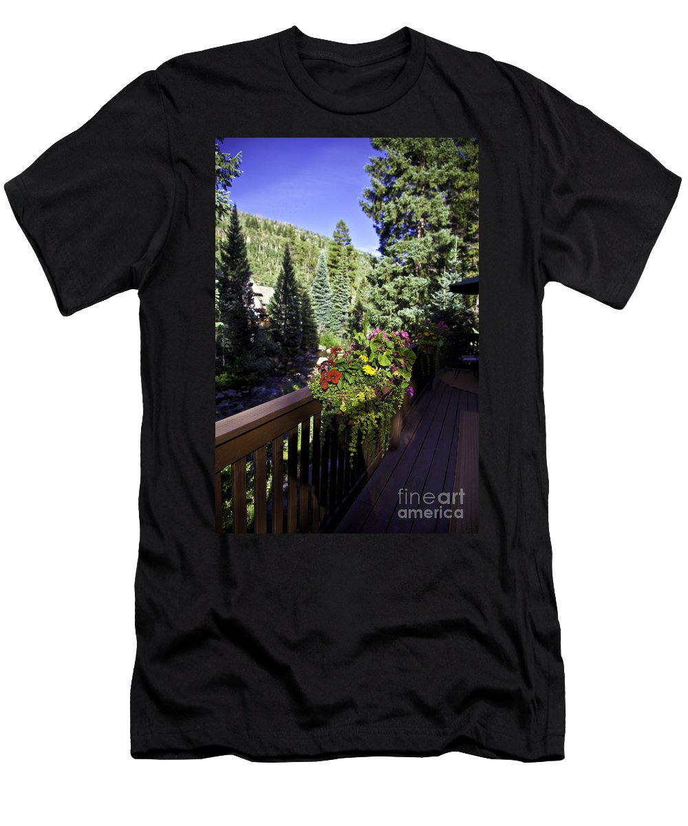 Vail Men's T-Shirt (Athletic Fit) featuring the photograph View From Vail House by Madeline Ellis