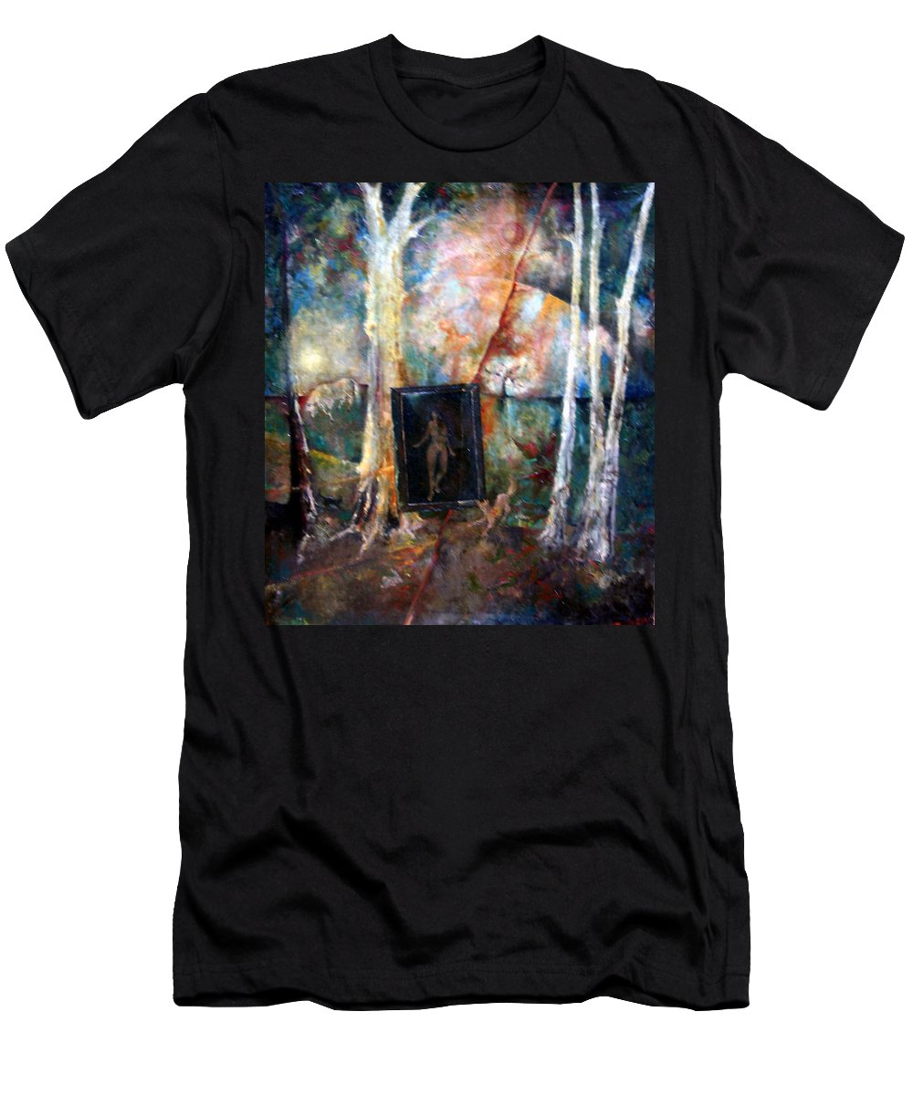 Colour Men's T-Shirt (Athletic Fit) featuring the painting View From Window by Wojtek Kowalski