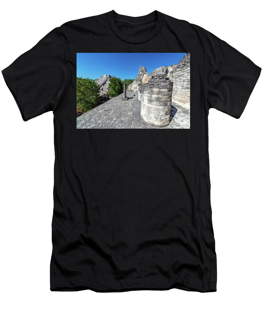 Becan Men's T-Shirt (Athletic Fit) featuring the photograph View Of Becan, Mexico by Jess Kraft