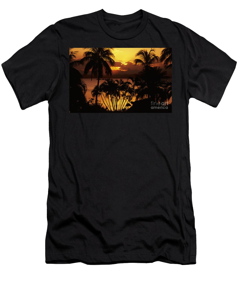 Bay Men's T-Shirt (Athletic Fit) featuring the photograph View Of Fiji by Larry Dale Gordon - Printscapes