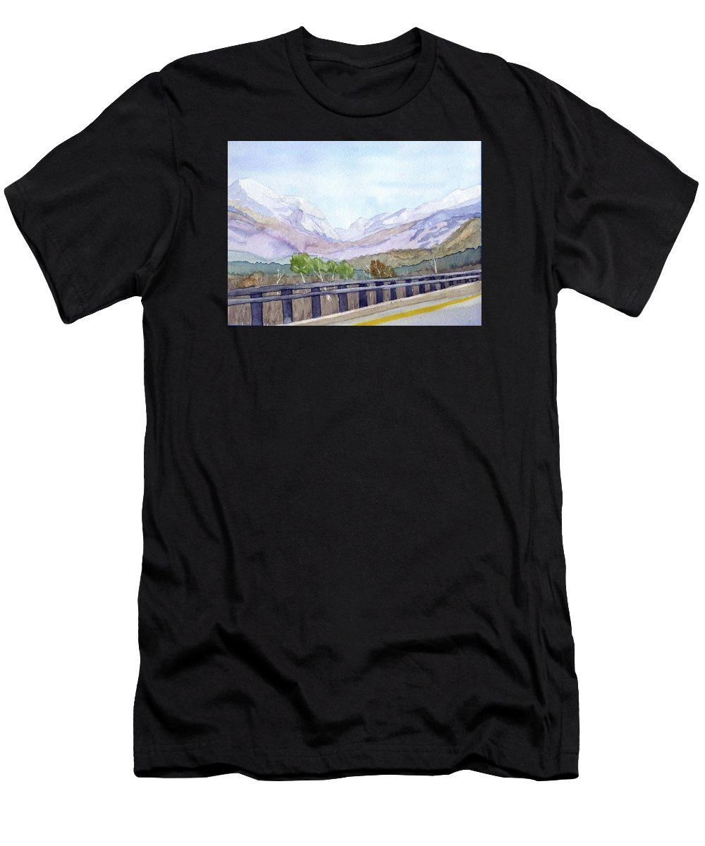 Franconia Notch T-Shirt featuring the painting View of Franconia Notch by Sharon E Allen