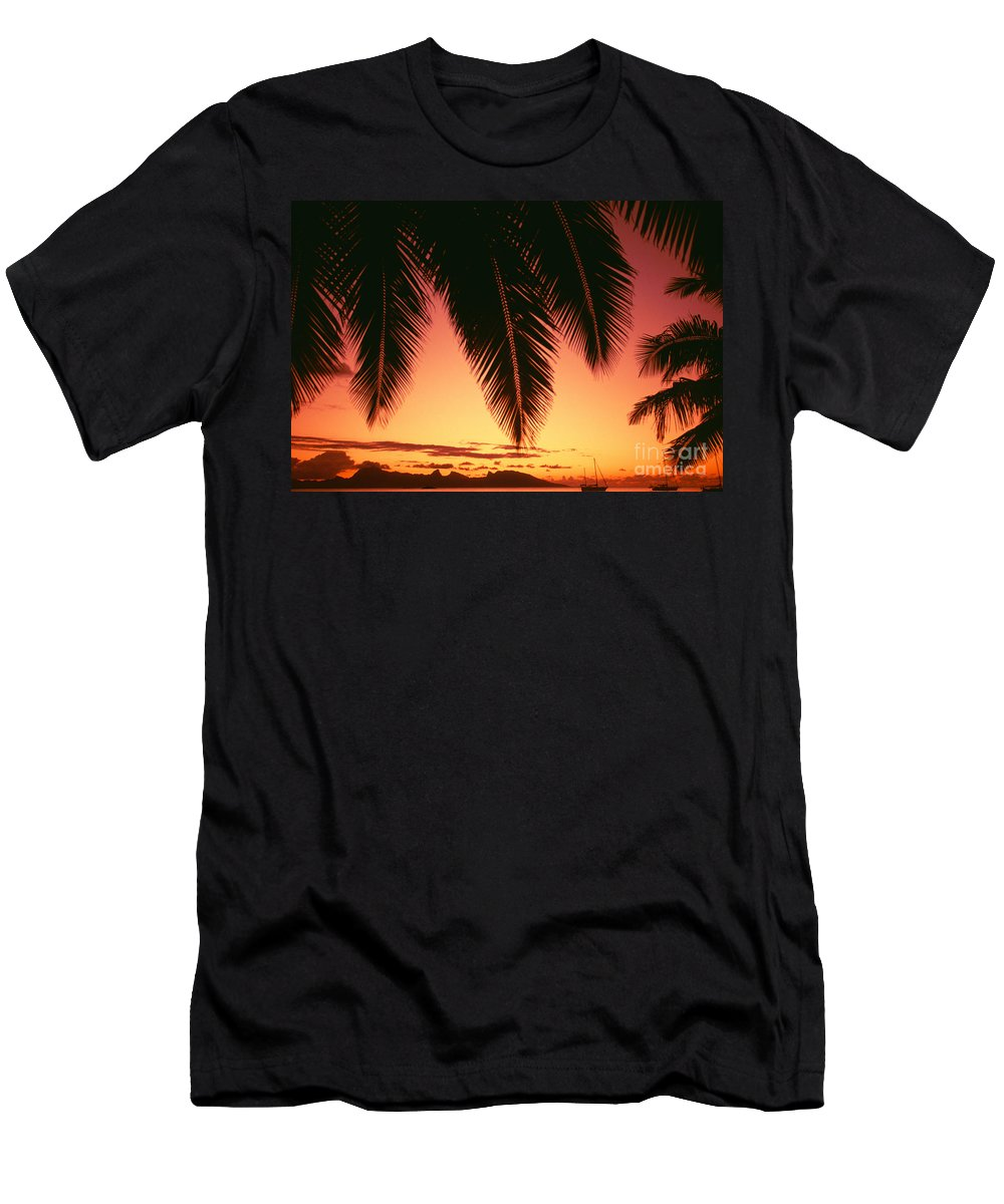 Beautiful Men's T-Shirt (Athletic Fit) featuring the photograph View Of Tahiti by Dana Edmunds - Printscapes