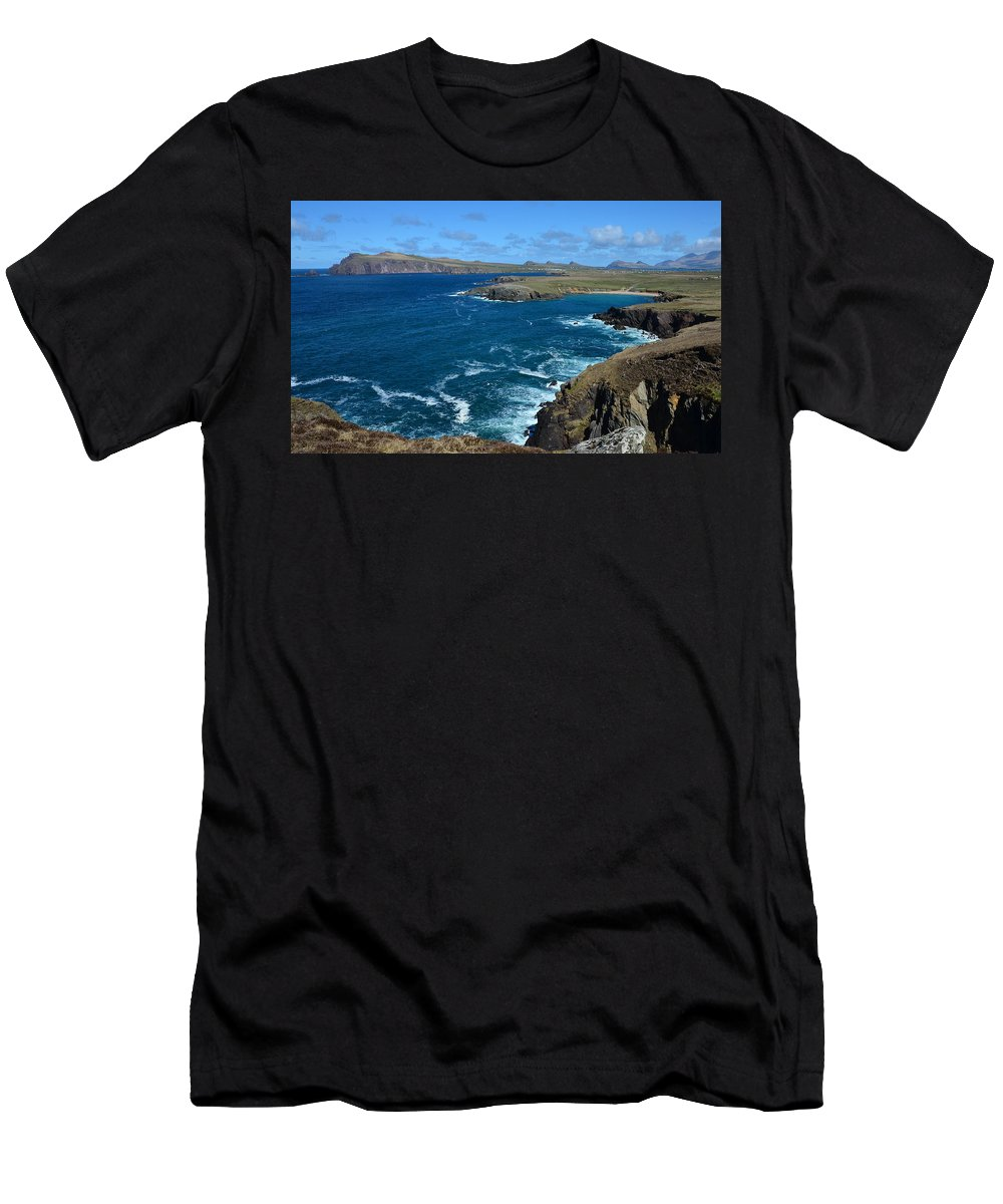 Clogher Men's T-Shirt (Athletic Fit) featuring the photograph View Over Clogher by Barbara Walsh