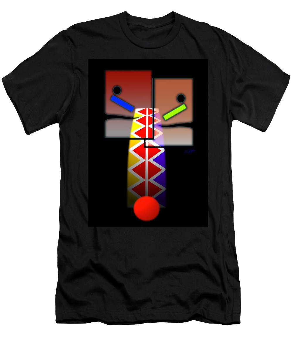 Native American Men's T-Shirt (Athletic Fit) featuring the painting Vigil by Charles Stuart