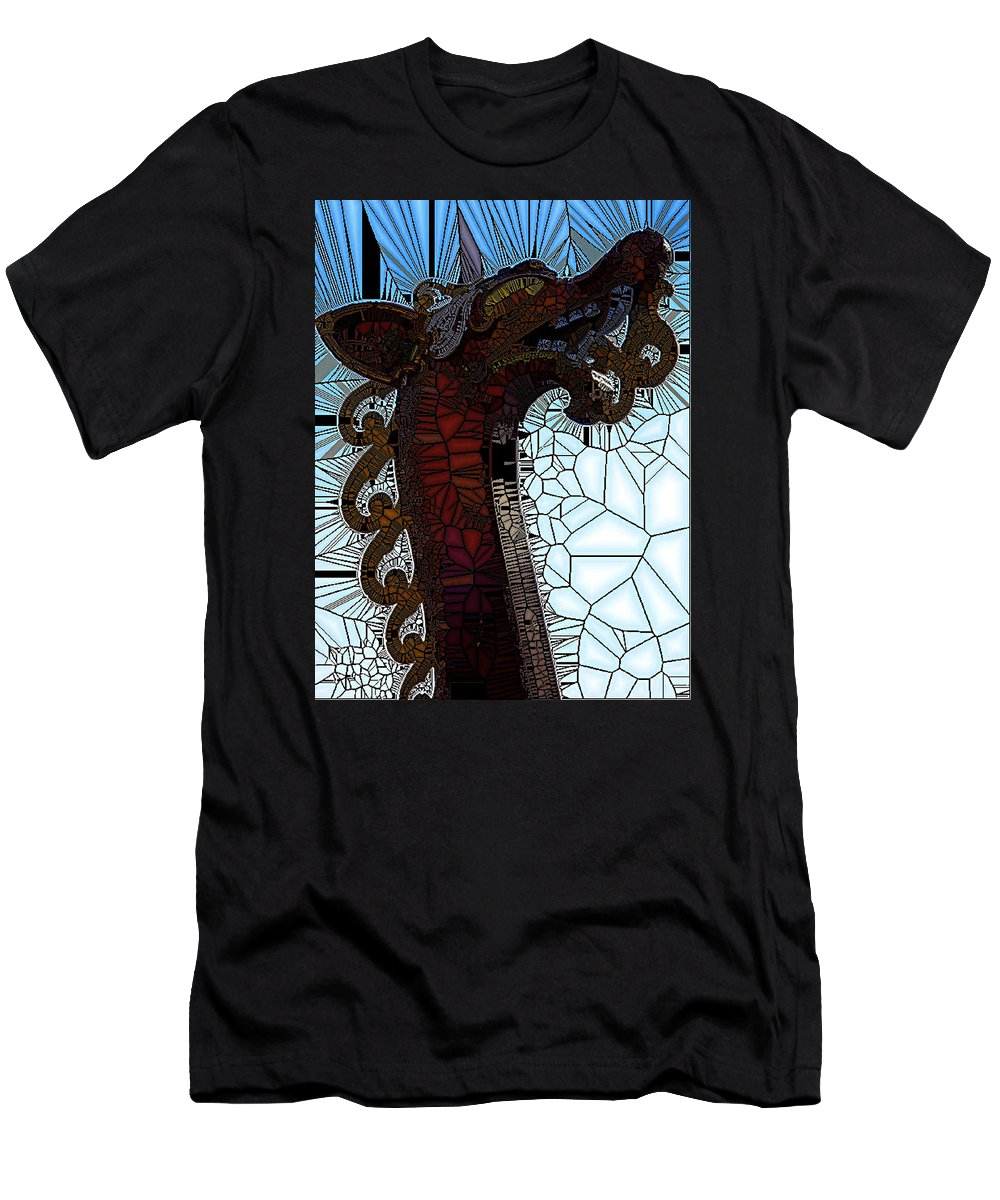 Dragon Men's T-Shirt (Athletic Fit) featuring the photograph Viking Ship I by Gwen Curry