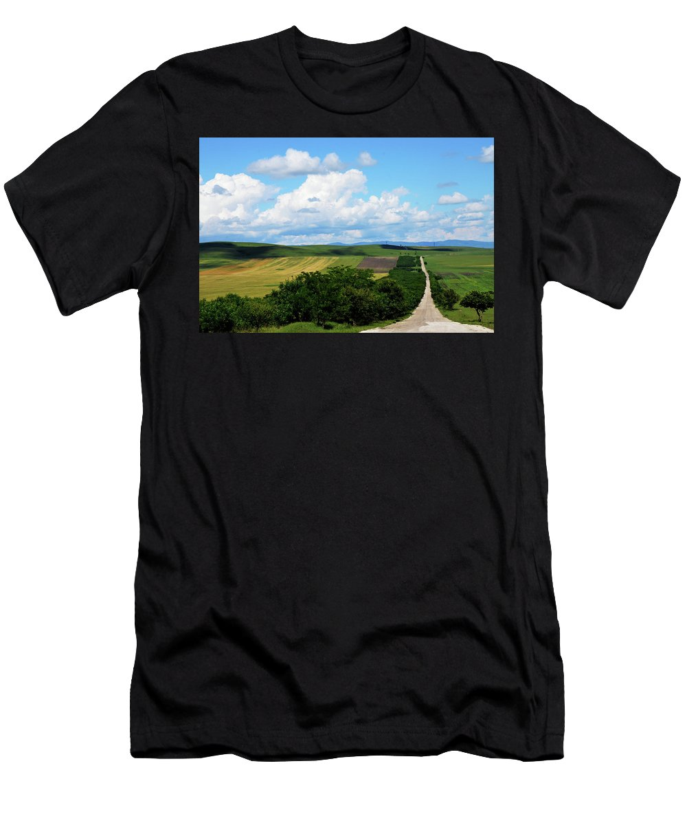 Rural Men's T-Shirt (Athletic Fit) featuring the photograph Village View by Tamar Mirianashvili