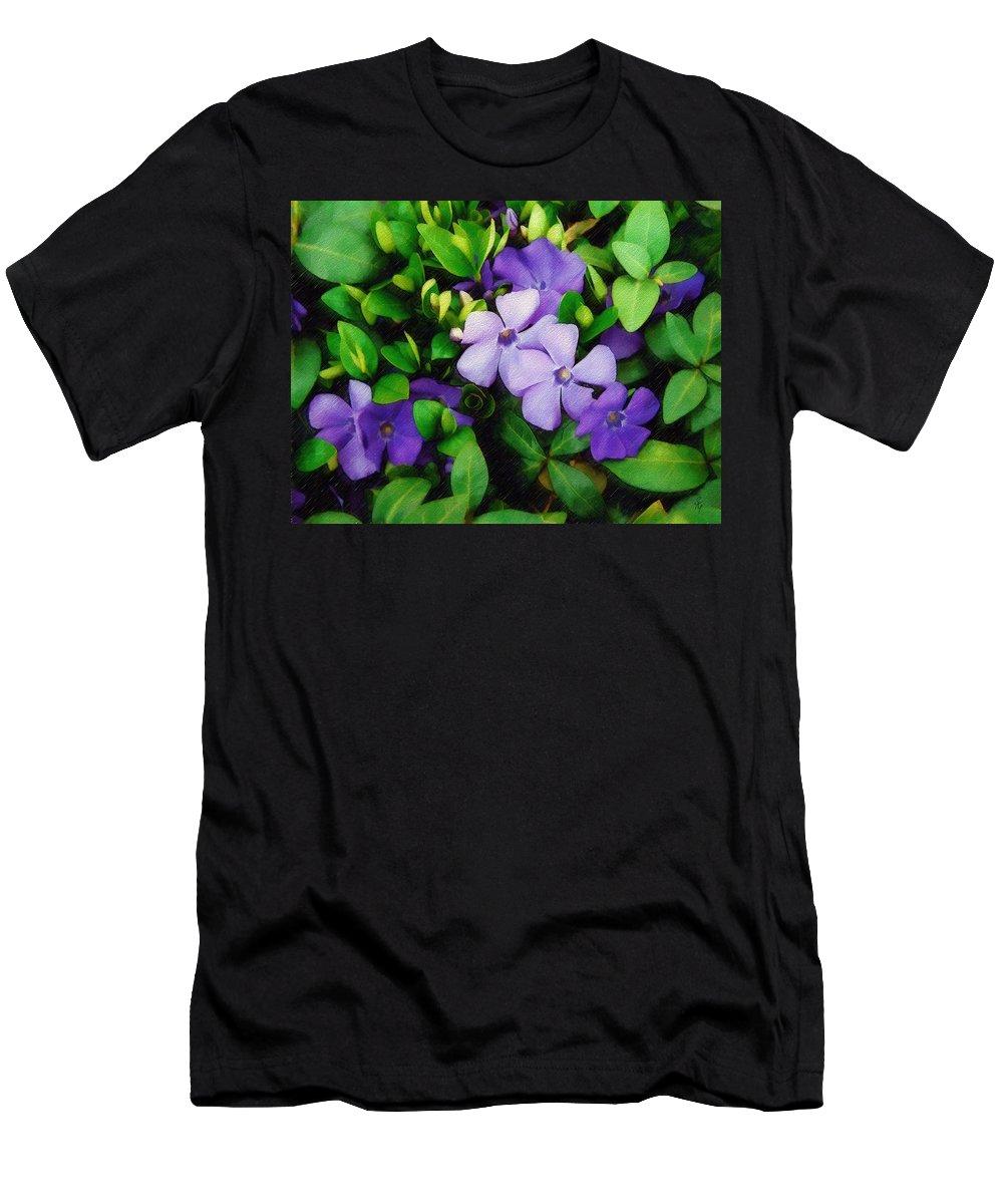 Vinca Men's T-Shirt (Athletic Fit) featuring the photograph Vinca by Sandy MacGowan
