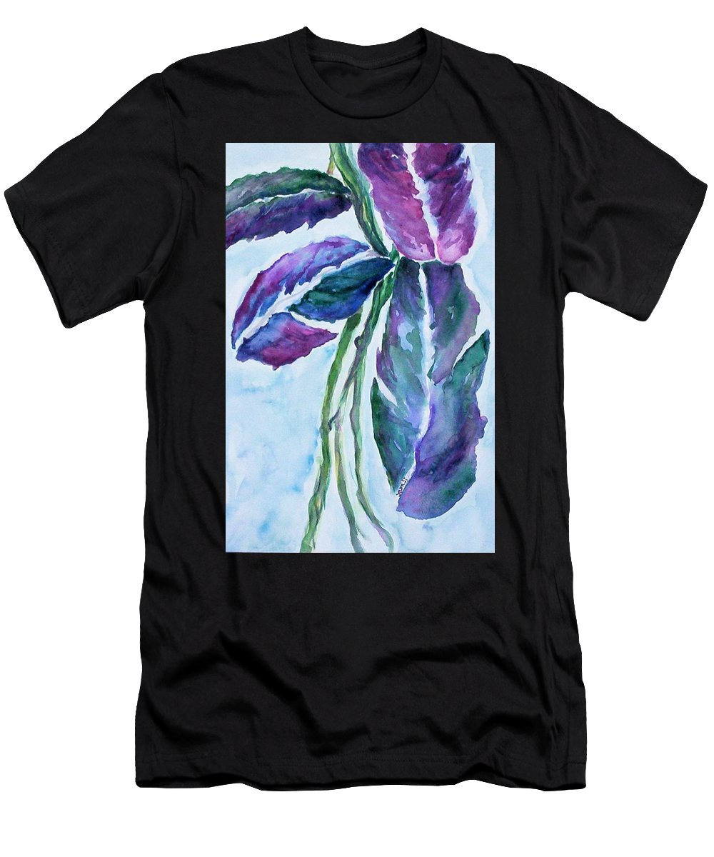 Landscape Men's T-Shirt (Athletic Fit) featuring the painting Vine by Suzanne Udell Levinger