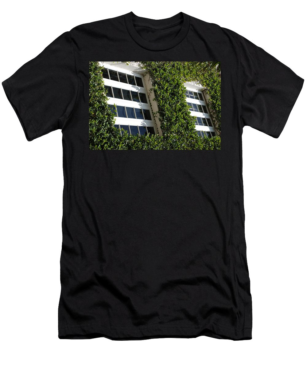 Architecture Men's T-Shirt (Athletic Fit) featuring the photograph Vines And Glass by Rob Hans
