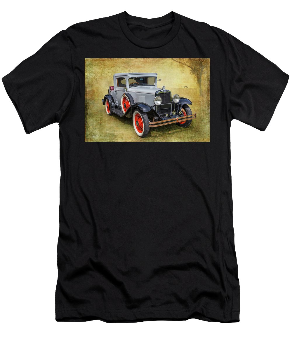Car Men's T-Shirt (Athletic Fit) featuring the photograph Vintage Chev by Keith Hawley