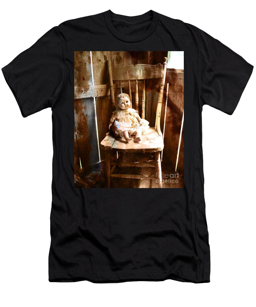 Creepy Men's T-Shirt (Athletic Fit) featuring the photograph Vintage Doll by Maggie Cersosimo